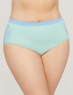 Floral Imprint Seamless Full Brief Panty