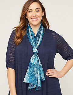 Cobalt Meadow Scarf
