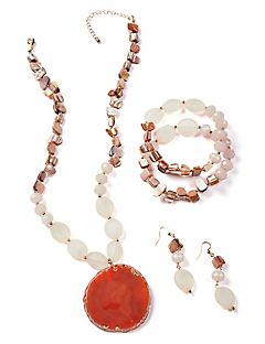 Agate Stone Pendant Necklace