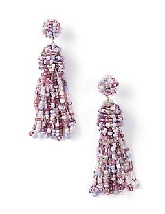 Lavender Cascade Drop Earrings