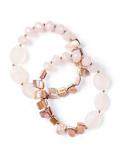 Soft Pink Stretch Bracelets