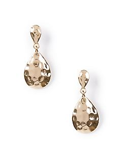 Hammered Teardrop Drop Earrings