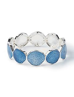 Blue Disc Stretch Bracelet