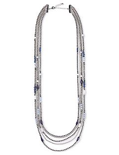 Silver Falls Beaded Necklace