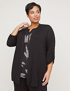 AnyWear Ruched-Sleeve Cascade