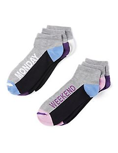 Day of the Week Ankle Socks 6-Pack