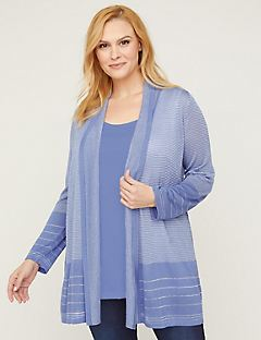 Shimmering Shadow Stripe Cardigan