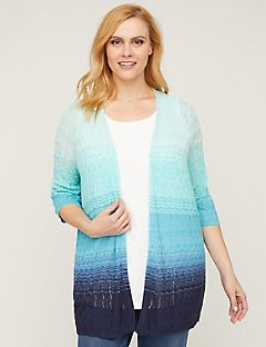 Ombre Pointelle Cardigan