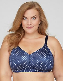 Printed No-Wire Backsmoother Bra