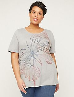 Butterfly Tee with Short Sleeves