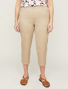 b605f1622b138 Sateen Stretch Capri with Comfort Waist