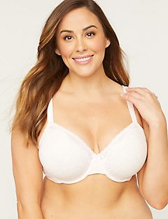 NEW! Cotton Comfort Underwire Demi Bra