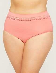 Seamless Full Brief Panty With Smocking