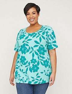 Teal Orchid Tee