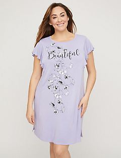 Beautiful Flutter-Sleeve Sleepshirt