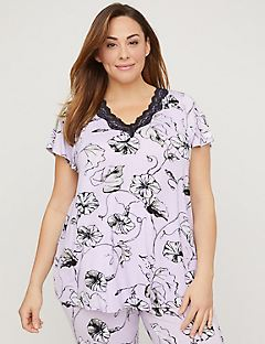 Lavender Bloom Sleep Top