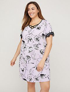 Lavender Bloom Crisscross Sleepshirt