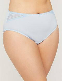 Microfiber Hi-Cut Panty With Lace