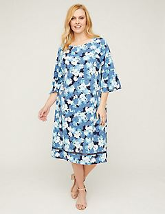 Periwinkle Brush A-Line Dress