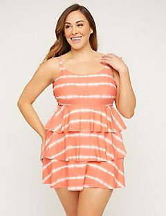 Tie-Dye Tiered Swimdress