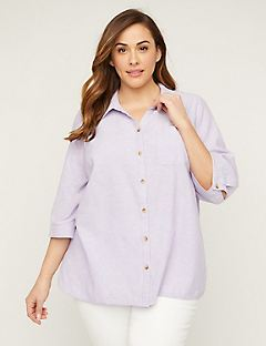 Effortless Linen Buttonfront Top
