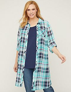 Riverview Plaid Duster