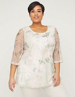 d1bd6cc4be9c4 Shop Tops at Catherines Plus Sizes. Poppy Tunic Top With Sequins