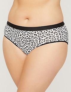 Printed Cotton Hipster Panty