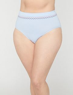 Seamless Hi-Cut Panty with Smocking