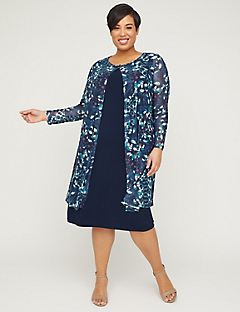 Botanical Breeze Jacket Dress