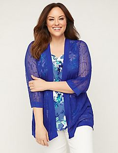 Decorative Pointelle Cardigan