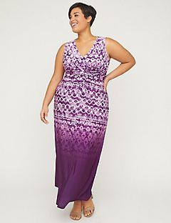 Tie-Dye Twist-Knot Maxi Dress