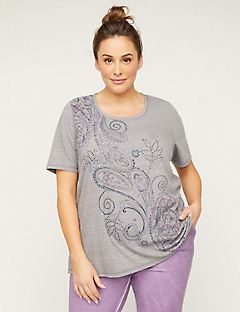 Swirling Studded Tee