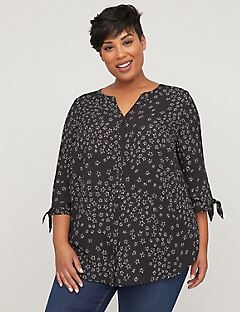 Forever Stars Crepe Buttonfront Blouse