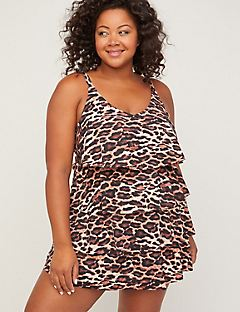 Tiered Safari View Swimdress