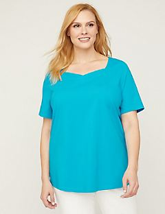 Sweetheart-Neck Suprema Top