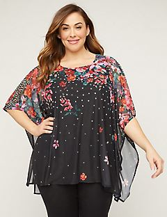 b0794bb1d83 Plus Size Tops & Tees On Sale | Catherines