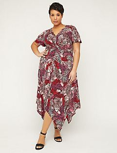 Floral Vision Twist-Knot Fit & Flare Dress