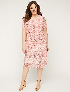 Coral Medallion Shift Dress