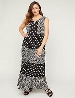 Tiered Gauze Maxi Dress