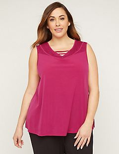 AnyWear Lace-Yoke Tank