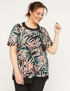 Palm Leaf Duet Tunic Top