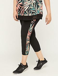 Palm Leaf Capri Legging