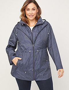 Polka Dot Packable Parka