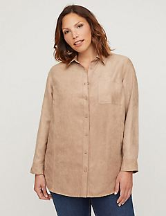 Cappuccino Moleskin Buttonfront Top