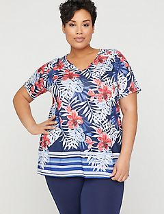 86d4fcf0e85 Dazzling Hibiscus Tee