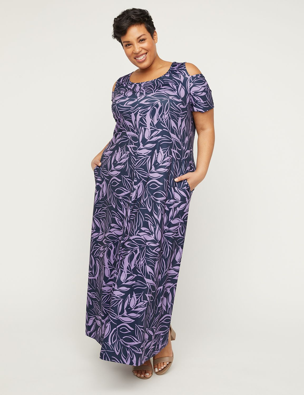 Tropic Petal Maxi Dress with Pockets