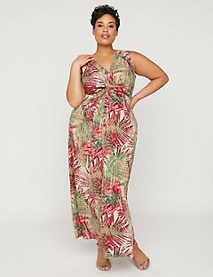 Palm Valley Twist-Knot Maxi Dress