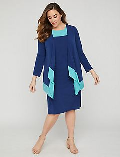 Indigo Sky Jacket Dress