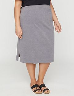 Suprema Midi Skirt in Gray